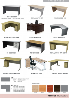 Office Tables; Color Options