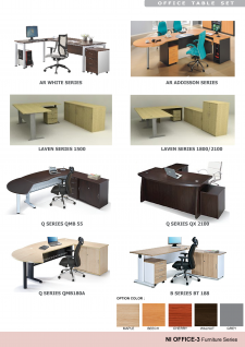 Office Tables; Color Options & Accessories