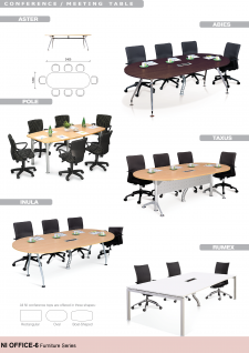 Office Tables; Office Table; Conference / Meeting Table Shapes - Aster, Abies, Pole, Taxus, Inula, Rumex