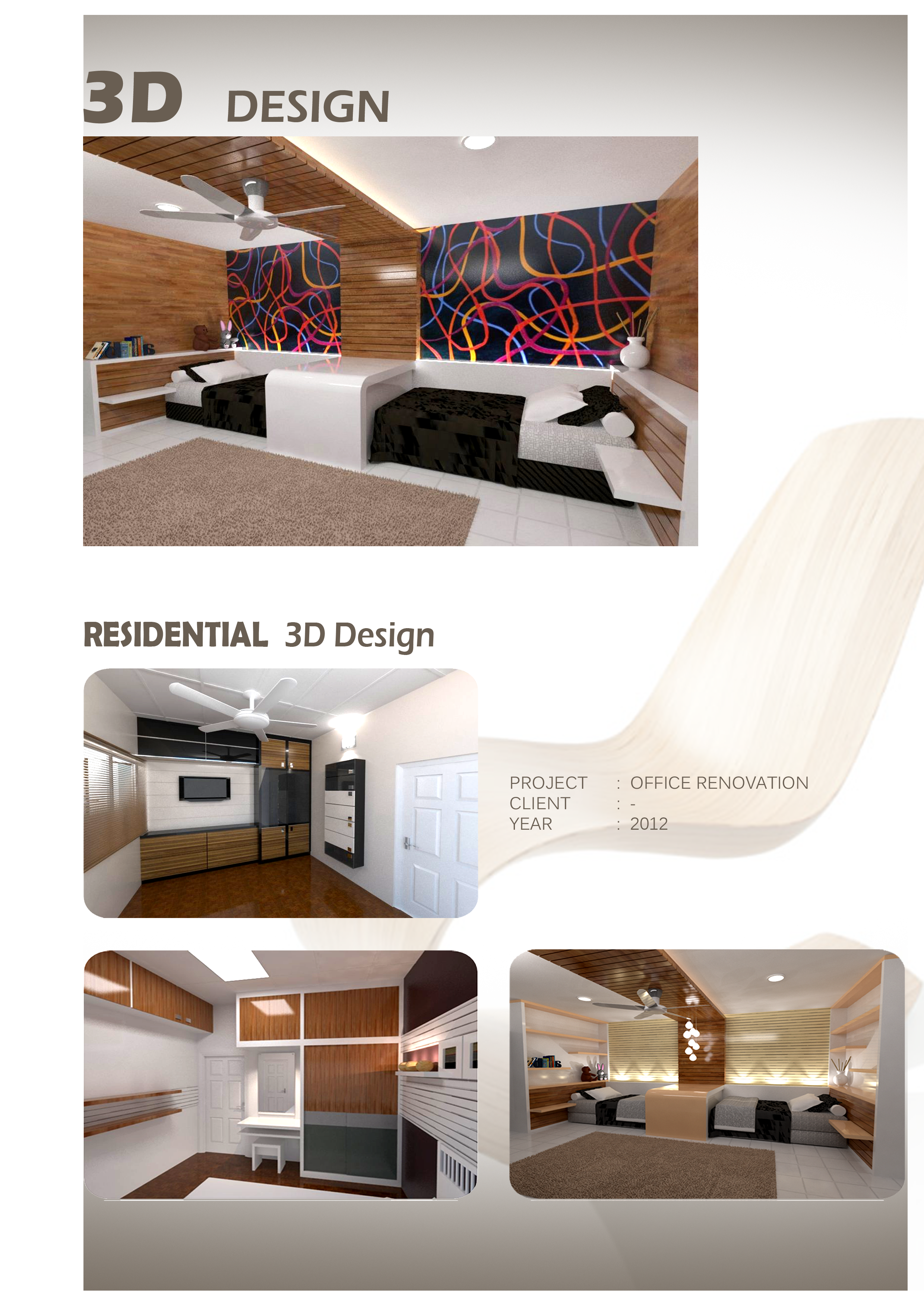 3d residential design n i interior design furniture for Furniture 3d design