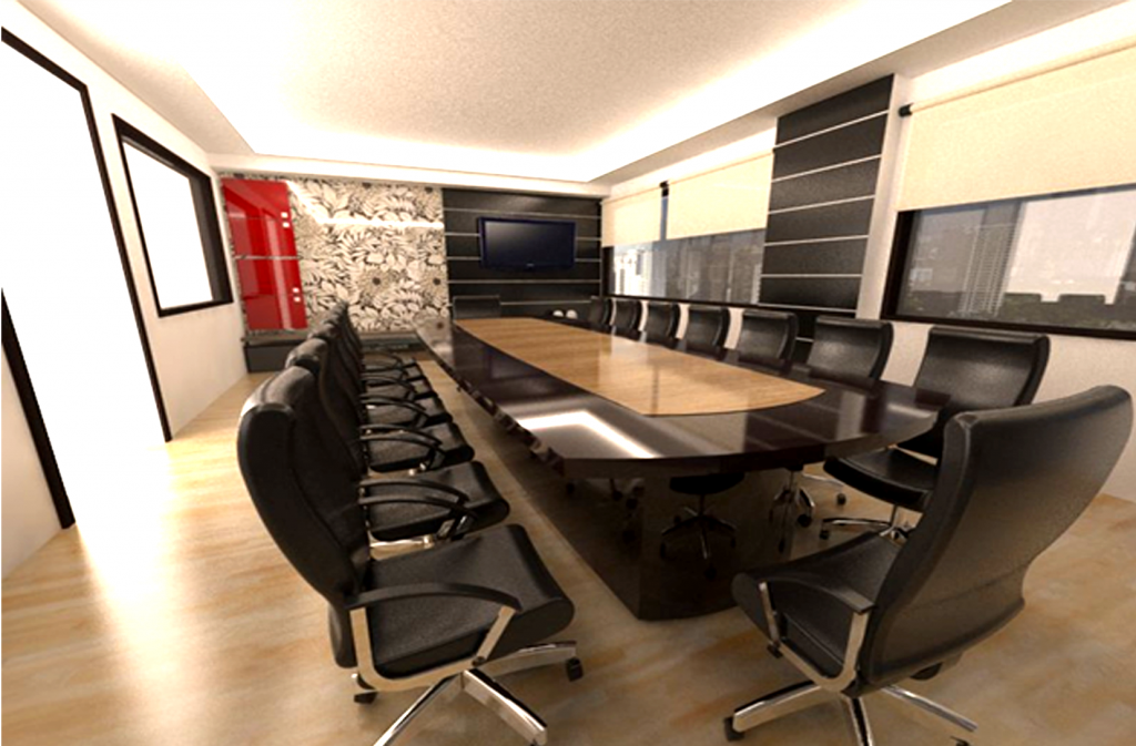 3d office design n i interior design furniture sdn bhd for Office table 3d design